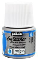PEBEO 295-060 Setacolor Opaque Fabric Paint 45-Milliliter Bottle, Shimmer Silver