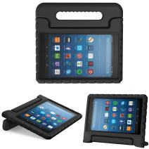 MoKo Case for All-New Amazon Fire HD 8 Tablet (6th/7th/8th Generation, 2016/2017/2018 Release) Kids Shock Proof Convertible Handle Light Weight Protective Stand Cover Case for Fire HD 8,Black