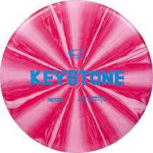 Latitude 64 Retro Burst Keystone | Disc Golf Putter | Frisbee Golf Putt and Approach Disc | 170g Plus | Stamp Color and Burst Pattern Will Vary