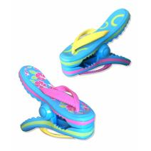 Flip Flop BocaClips by O2COOL, Beach Towel Holders, Clips, Set of two, Beach, Patio or Pool Accessories, Portable Towel Clips, Chip Clips, Secure Clips, Assorted Styles