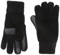 Isotoner Women's Solid Chenille Knit Gloves with Smartouch Technology