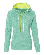 Orange Arrow Womens Minnesota Home Hoodie - MN Hooded Sweatshirt by Hometown Hoodies