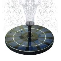 COODIA Solar Bird Bath Fountain Pump with Backup Battery Solar Powered Water Fountain Pump for Bird Bath Garden Pond Pool Outdoor, 2.5W Solar Panel