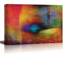 wall26 - Vibrant Colors Surrounding a Blue Focus - Canvas Art Home Decor - 32x48 inches