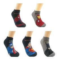AlterChoice Superhero Ankle Socks, Novelty Dress Socks With Superhero Pattern, Regular Size 6-9 for Adults, Nice Box