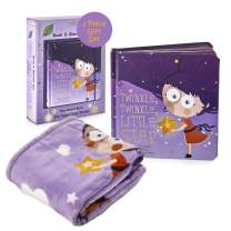 Binks & Books Baby Blanket & Nursery Rhyme Book Set | Twinkle, Twinkle, Little Star