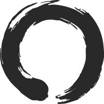 hBARSCI Enso Circle - 5 Inches - for Cars, Trucks, Windows, Laptops, Tablets, Outdoor-Grade 2.5mil Thick Vinyl - Matte Black