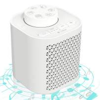 White Noise Machine, Portable Sleep Sound Machine for Baby Adult Kids Soothing Therapy, Noise Machine for Office Privacy, Sound Relaxation 6 Natural Sounds with Sleep Timer, USB or Battery Powered