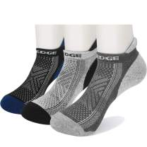 YUEDGE Athletic Ankle Socks Comfort Breathable Moisture Wicking No Show Running Low Cut Socks for Men and Women