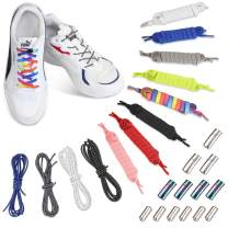 3 Pairs No Tie Elastic shoe Lace with Colorful Metal lock for Adults, Kids, Elderly,Tieless Shoe Strings Lazy Shoe Laces
