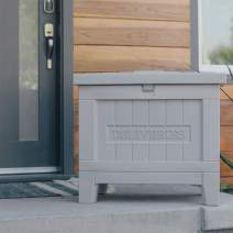 Yale Smart Delivery Box - WiFi Package Box for Receiving and Securing Packages from any Carrier, Gray