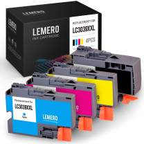 LEMERO Compatible Ink Cartridge Replacement for Brother LC3039 LC3039XXL for Brother MFC-J6945DW MFC-J5845DW MFC-J5945DW MFC-J6545DW Printer (1 Black, 1 Cyan, 1 Magenta, 1 Yellow, 4 Pack)