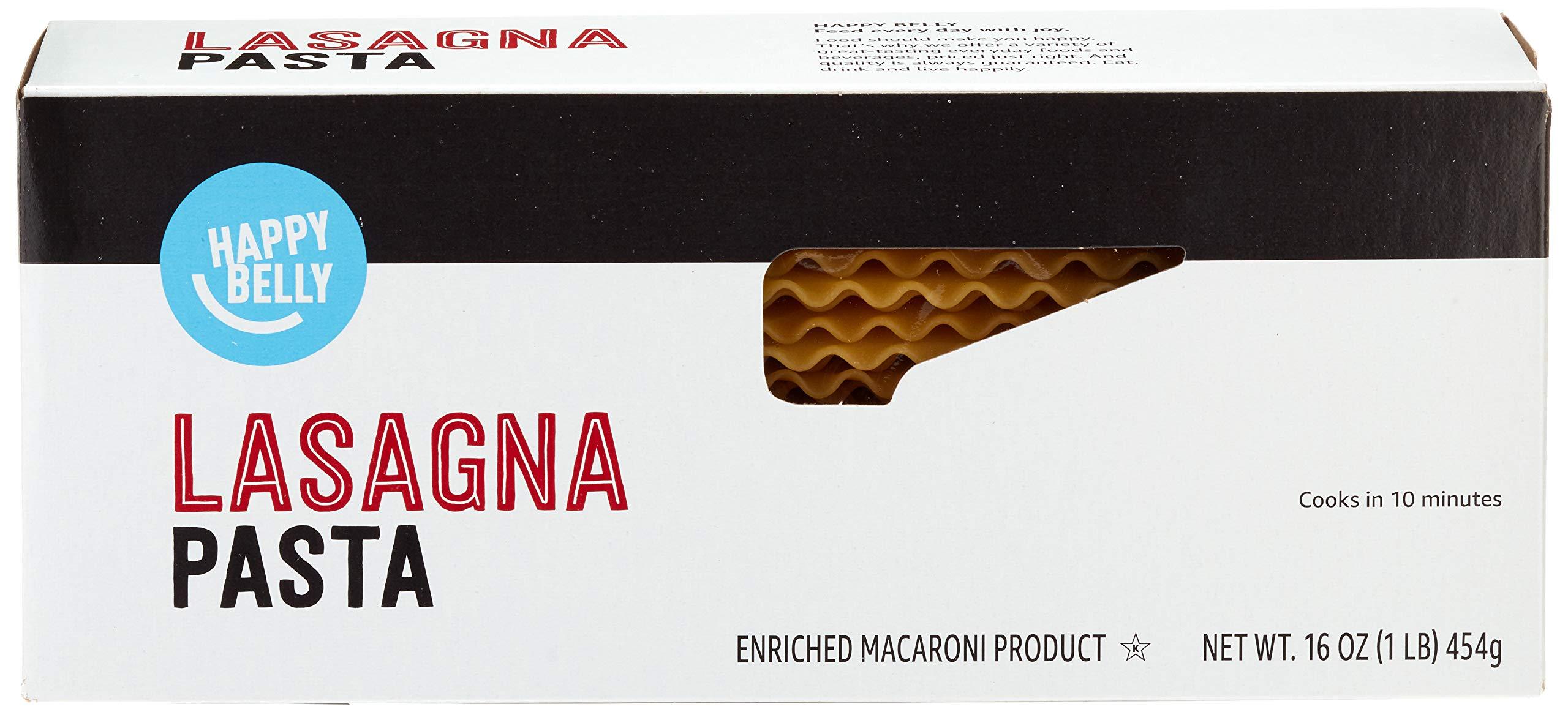 Amazon Brand - Happy Belly Pasta, Lasagna, 16 Ounce