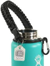 Gearproz Paracord Handle for Hydro Flask - America's No. 1 Paracord Survival Strap Carrier for Hydroflask Wide Mouth Water Bottles (12 to 64 oz)