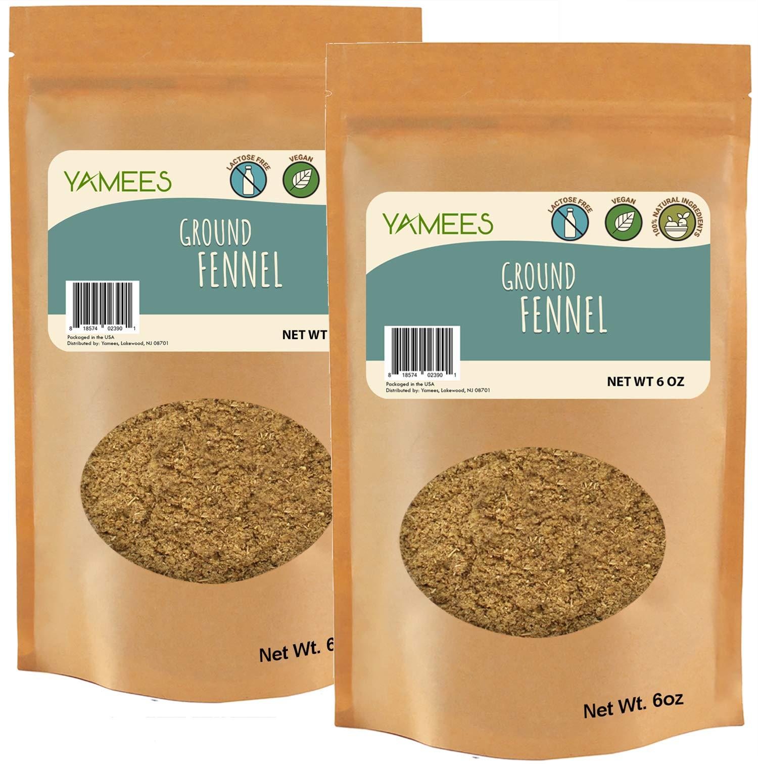Fennel Powder - 12 Oz (6 Oz Each) - Ground Fennel Seed Powder - Bulk Spices