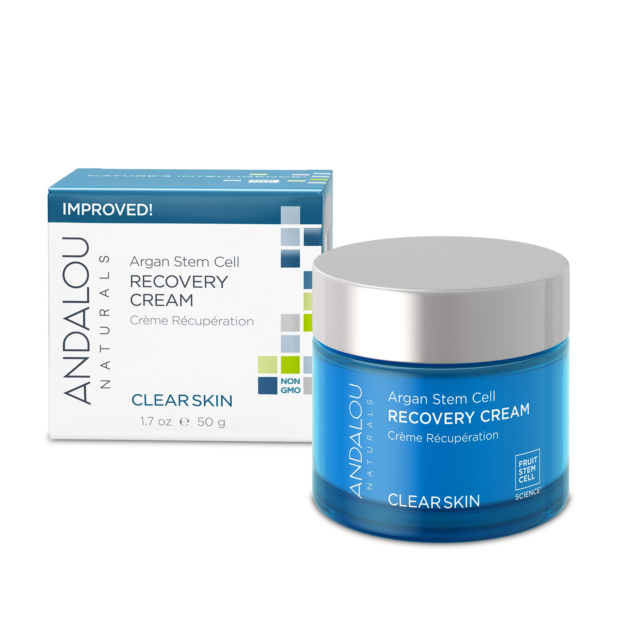 Andalou Naturals Argan Stem Cell Recovery Cream, 1.7 Ounces