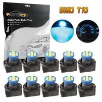 Partsam 10PCS T10 194 Ice Blue Instrument Panel LED Lights Gauge Cluster Dash Lamp Bulbs with 10PCS Twist Lock Sockets