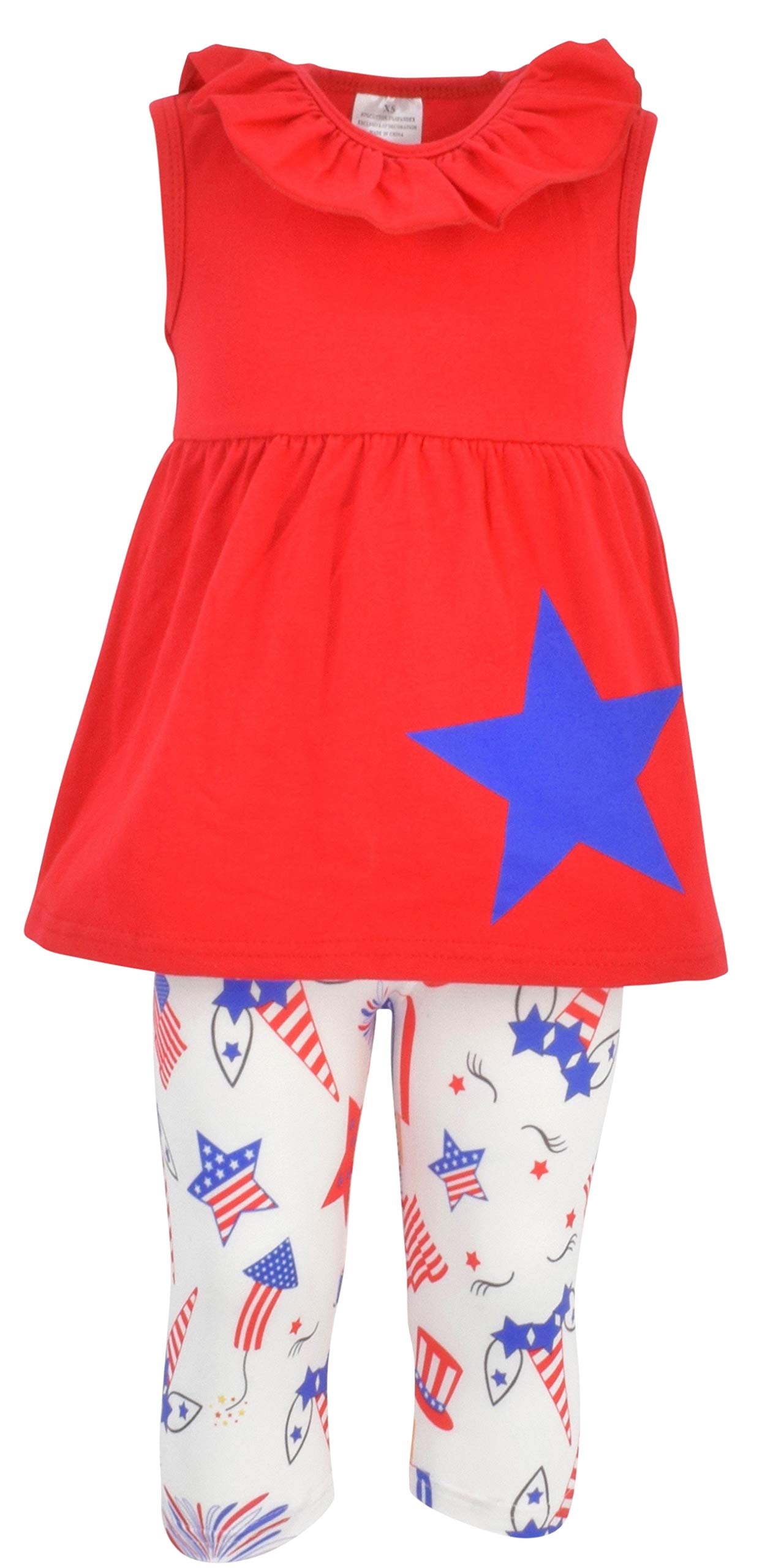 Unique Baby Girls Patriotic 4th of July Blue Star Outfit