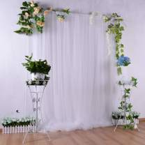 White Tulle Backdrop Curtain 5ft×7ft for Wedding Baby Shower Decorations Photography Background Party Decorations Supplies
