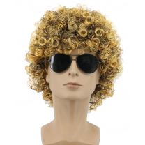Yuehong 70s 80s Party Funky Disco Wave Mens Afro Wig Halloween Costume (Male)