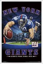 "Trends International NFL New York Giants - End Zone Wall Poster, 22.375"" x 34"", White Framed Version"