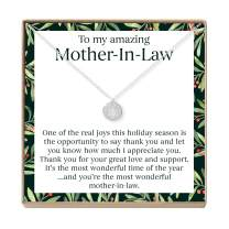 Mother in Law Christmas Necklace - Heartfelt Card & Jewelry Gift Set