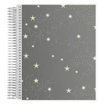 """Erin Condren Coiled Notebook (Productivity Layout) - Starry Sky (Ivory and Gray) Designer Interchangeable Cover, Lined Paper with to Do List, Measures 7""""x 9"""", Boost Productivity, Durable, Pretty"""
