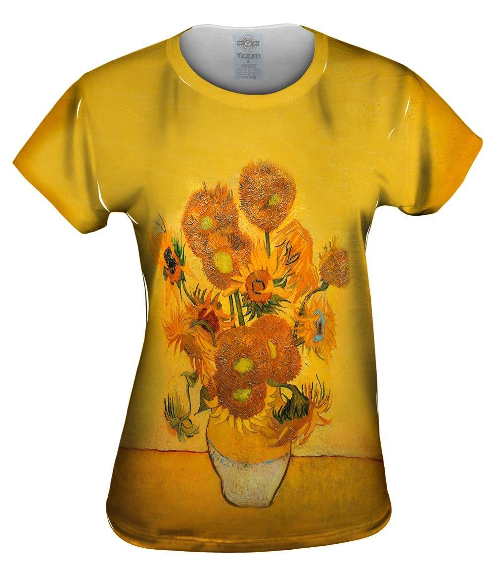 Yizzam- Vincent Van Gogh - Sunflowers(London vers.-Tshirt- Womens Shirt 1482