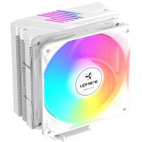 upHere 5 Copper Heat Pipes White CPU Cooler,5V 3PIN Addressable RGB,120mm PWM Fan, Aluminum Fins for AMD Ryzen/Intel,N1054ARGB