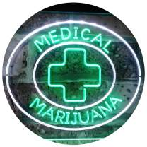 """ADVPRO Medical Marijuana Cross Sold Here Indoor Display Dual Color LED Neon Sign White & Green 24"""" x 16"""" st6s64-i3084-wg"""