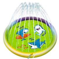 "Joyjoz Kids Splash Pad, Sprinkler Pad, Outdoor Sprinkler Pool for Children ,60"" Outdoor Water Toys,Outdoor Swimming Pool for Toddlers, Babies, Children"