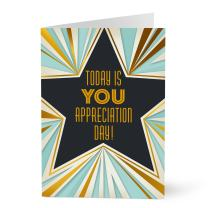 Hallmark Business Employee Appreciation Card (Art Deco Star Employee Appreciation) (Pack of 25 Greeting Cards)
