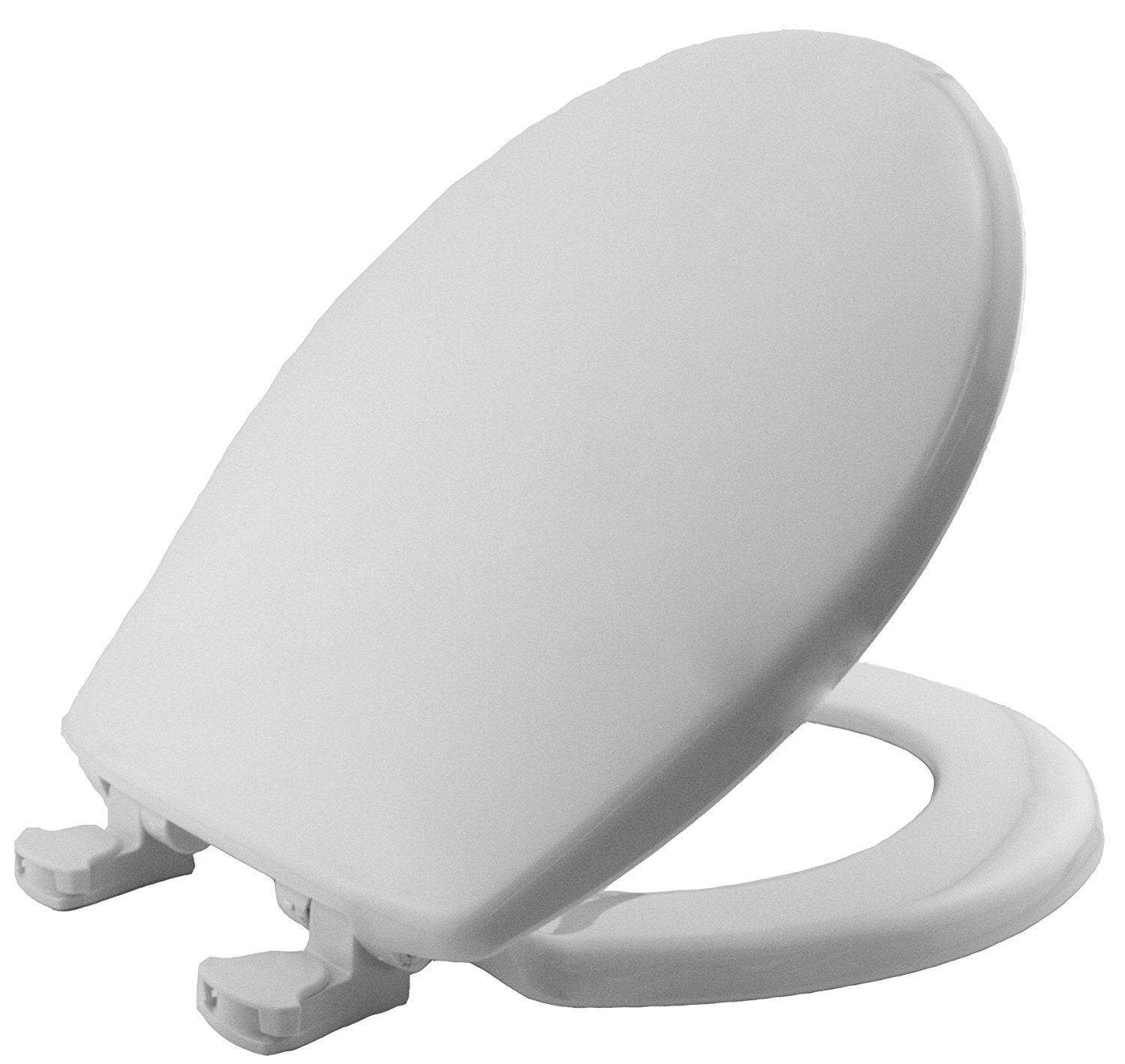MAYFAIR 80EC 000 Toilet Seat will Never Loosen and Easily Remove, ROUND, Long Lasting Plastic, White