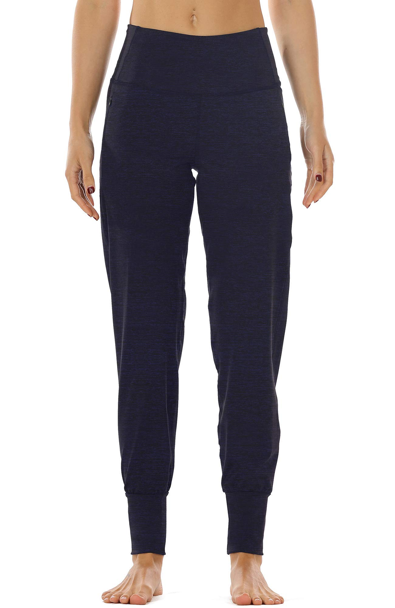 icyzone Workout Joggers Pants for Women - High Waisted Exercise Athletic Running Leggings with Pockets