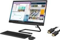 "Lenovo IdeaCentre A340 24 AIO 23.8"" FHD Touchscreen All in One Desktop Computer (Intel Hexa-Core i5-9400T (Beats i7-6700), 16GB RAM, 512GB SSD+1TB HDD) DVDRW, Windows 10 + IST Computers HDMI Cable"
