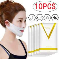 V Line Face Mask and Double Chin Reducer Intense Lifting Layer Mask, Lifting Patch for Chin Up & V Lifting Chin Mask-Chin Up Moisturizing (10PCS)