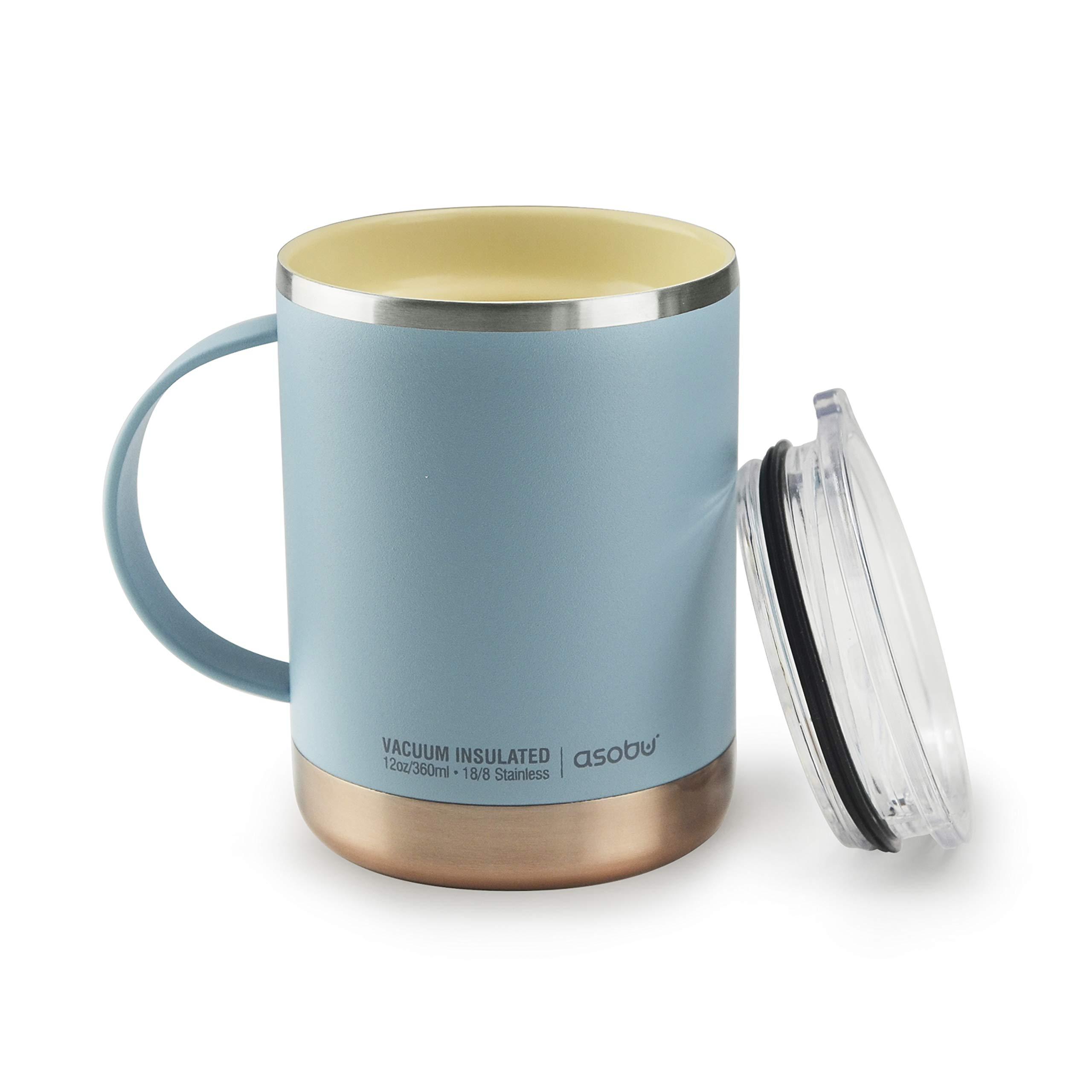 Asobu Ultimate Stainless Steel Ceramic Inner Coating Insulated Mug (Baby Blue)