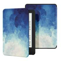 Ayotu Slim Case for All-New Kindle(10th Gen, 2019 Release) - PU Leather Cover with Auto Wake/Sleep-Fits Amazon All-New Kindle 2019(Will not fit Kindle Paperwhite or Kindle Oasis),The Blue Moonlight