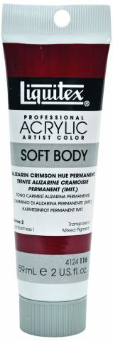 Liquitex 4124116 Professional Soft Body Acrylic Paint 2-oz Tube, Alizarin Crimson Hue Permanent