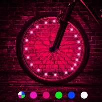 TINANA LED Bike Wheel Lights Ultra Bright Waterproof Bicycle Spoke Lights Cycling Decoration Safety Warning Tire Strip Light for Kids Adults Night Riding -1Pack