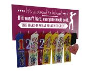 Running On The Wall-Gifts for Gymnasts-Medal Display Rack-Medal Holder for Gymnastics -It's Supposed to BE Hard. IF IT Wasn't Hard,Everyone Would DO IT