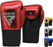 RDX Kids Boxing Gloves for Training & Muay Thai – ConvEX Skin & Metallic Leather Junior 8oz Mitts for Kickboxing, Sparring & Fighting –Good for Youth Punch Bag, Grappling Dummy and Focus Pads Punching