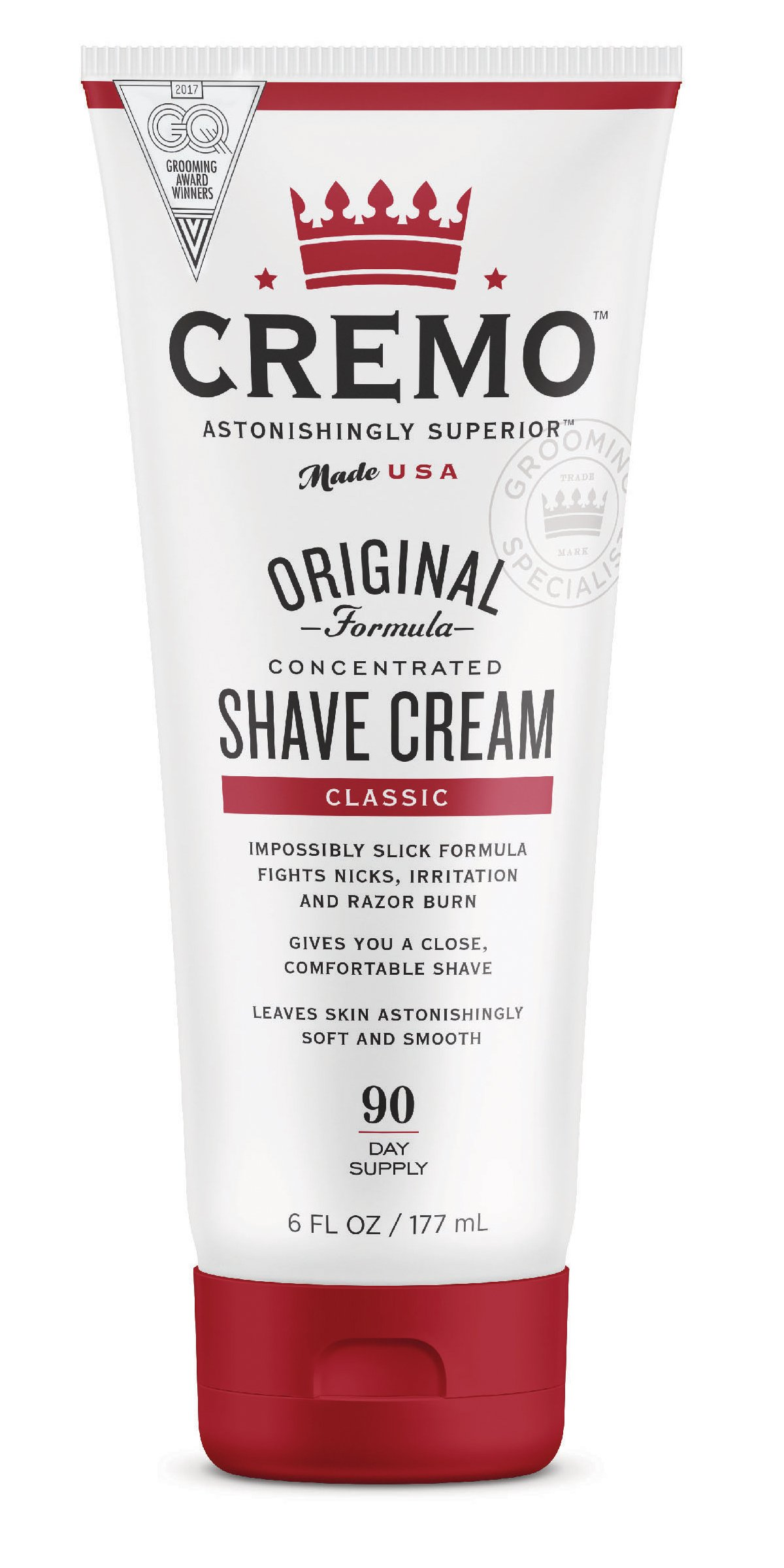 Cremo Original Shave Cream, Astonishingly Superior Smooth Shaving Cream Fights Nicks, Cuts And Razor Burn, 6 Ounces