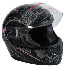 TCT-MT DOT Helmet Motorcycle Pink Black Butterfly Full Face Street Sport (Small)