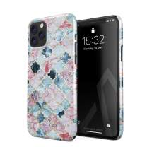 BURGA Phone Case Compatible with iPhone 11 PRO - Pink Beach Purple Moroccan Tiles Pattern Marrakesh Mosaic Cute Case for Women Thin Design Durable Hard Plastic Protective Case