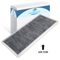 Dependable Direct CF10830 Premium Cabin Air Filter with Activated Carbon - Replacement for BMW X5 2000-2006, 2003-2013 Land Rover Range Rover- OEM# JMO000010, LR026132, LR032199, 64 31 8 409 044