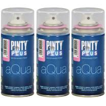 Spray Paint for Art & Crafts, Water Based Pintyplus Aqua Mini - (Pink Bubble Gum), 3 x 150 mL Cans