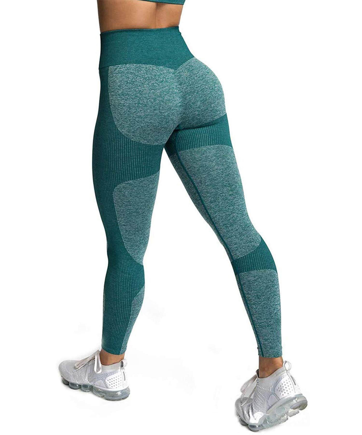 CFR Womens High Waisted Leggings Seamless Tight Workout Leggings Gym Yoga Pants Tummy Control Sports Compression