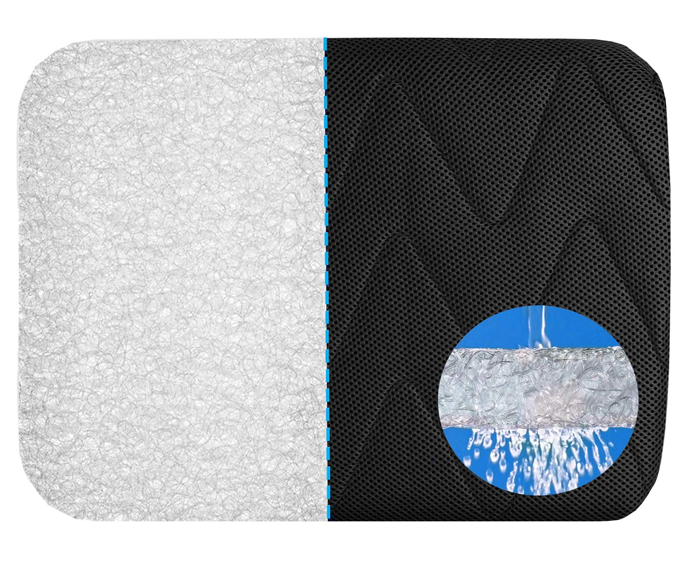 FAMI HELPER Seat Cushion for Office Chair - Use to Sciatica, Tailbone, Back Pain Relief with Washable Cooling 4D Net Structure Liner Wheelchair Seat Cushions(16.9 x 13.0 x 2.0 inches)