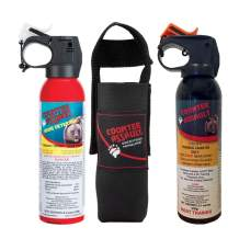 Counter Assault - EPA Certified, Maximum Strength & Distance Bear Repellent Spray - Hottest Formula Allowed by Law - Night Glow Locator & Tactical Belt Holster Included (8.1 & Inert)